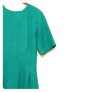 H&M green textured dress!